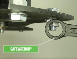 A Safewrench prevents severe hand injuries